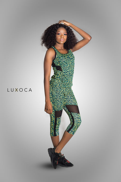 Luxoca Active Woman Green Gym Wear