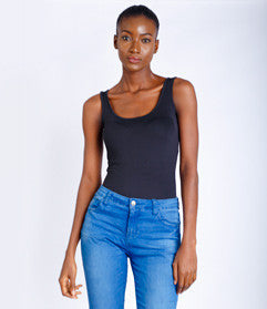 Luxoca Basic Black Tank Top