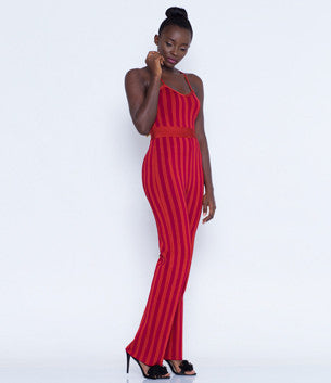 Red Bandage Jumpsuit
