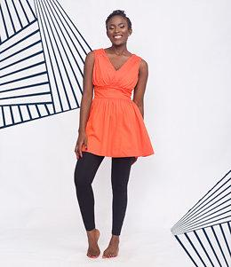 Bright Orange Sleeveless Top