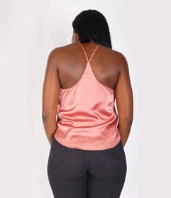 French Rose Satin Top