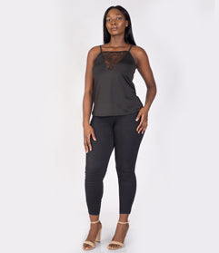 Black A Jet Stylish Bodysuit