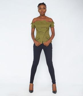 Army Green Khaki Top