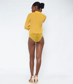 Mustard Long Sleeve Bodysuit