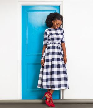 Vintage Inspired Chequered Dress