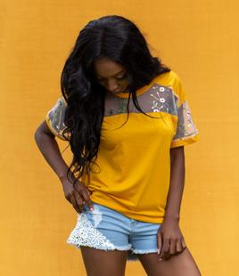 Janelle Bacel Yellow Shine Top