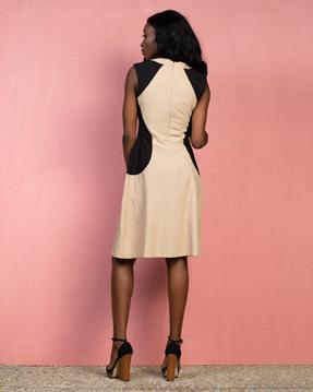 Navy Brown Dress