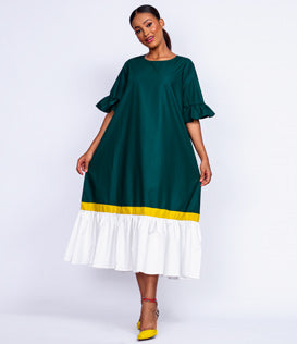 Fringe Island Green Skirt