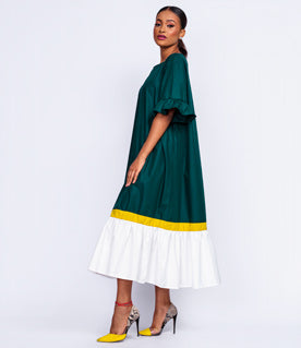 Color Block Summer Shift Dress
