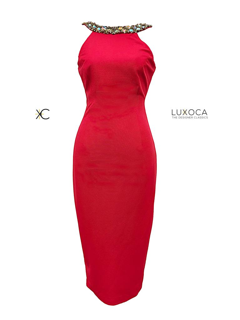 Pia Michi Red Backless Dress
