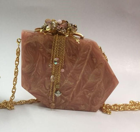 Albany Silk Patterned Clutch