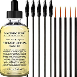 Organic Cold-Pressed Castor Oil Eyelash Serum - Promotes Eyelash Growth