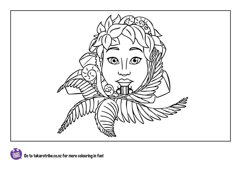 Download this colouring-in image of Kōkā