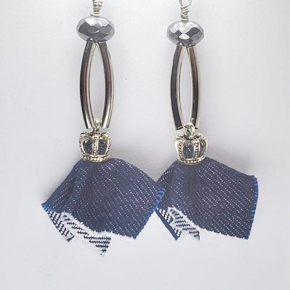 Denim Darling Earrings - Nadra Care Exclusive Item (SOLD OUT)