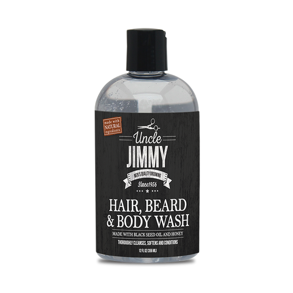 Uncle Jimmy Hair, Beard & Body Wash - 12 oz
