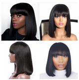 Nadra Bob Style with Bangs- Lace Front Wig