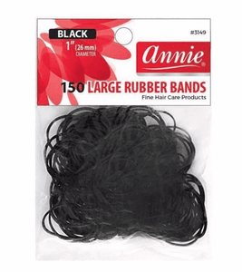 Annie Rubber Bands - 1 inch Black