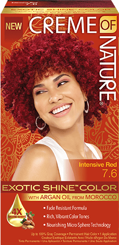 CREME of NATURE-Exotic Shine Color - INTENSIVE RED