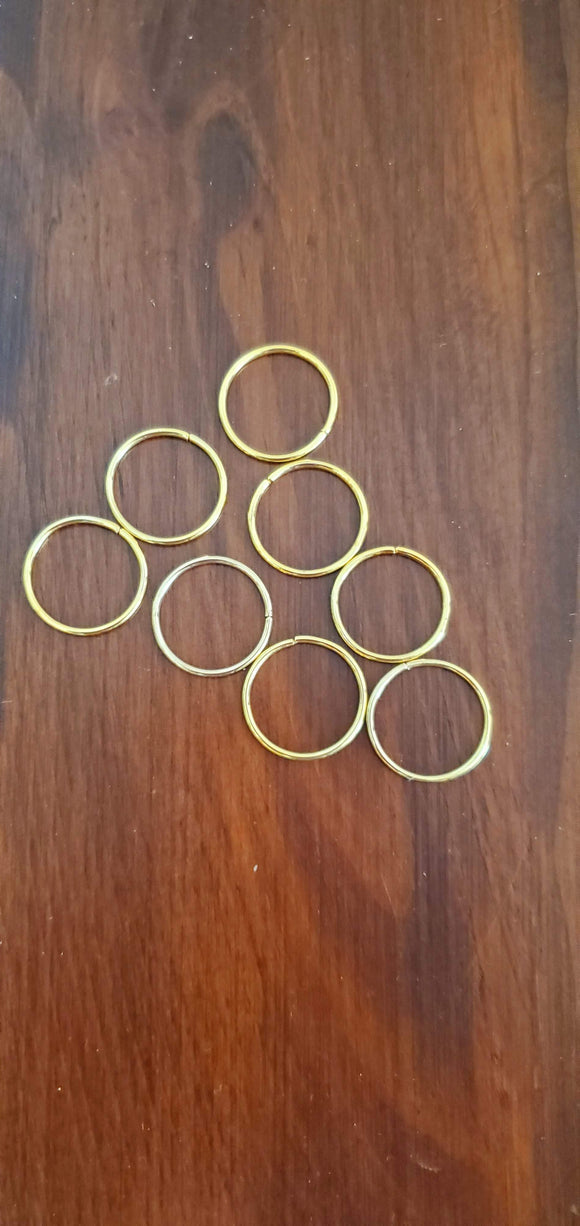 Hair Ring- 8 Golden Rings