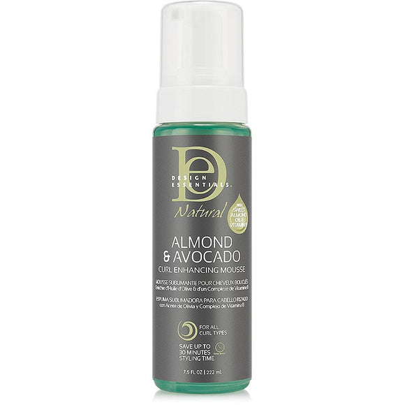 Design Essentials Natural Almond + Avocado Curl Enhance Mousse - 7.5 oz