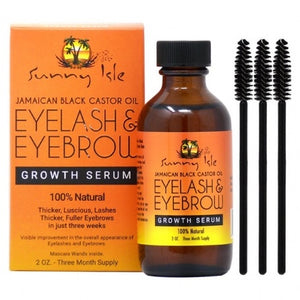Sunny Isle Jamaican Black Castor Oil Eyelash & Eyebrow Growth Serum - 2 oz