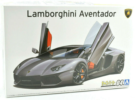Aoshima '11 Lamborghini Aventador LP700-4 #04 1/24 Plastic Model Car Kit 05864