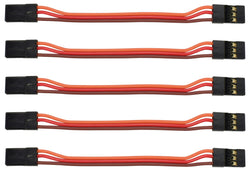 "Apex RC Products JR Style 3"" / 75mm Male Male Servo Extension - 5 Pack #1002M"