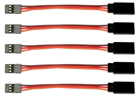 "Apex RC Products JR Style 3"" / 75mm Servo Extension - 5 Pack #1002"