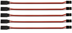 "Apex RC Products JR Style 6"" / 150mm Servo Extension Lead - 5 Pack #1006"