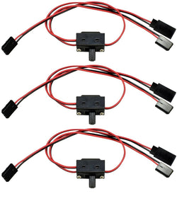 Apex RC Products Futaba Style 3 Way On/Off Switch W/ Charge Lead - 3 Pack #1055