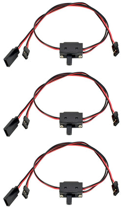 Apex RC Products JR Style 3 Way On/Off Switch W/ Charge Lead - 3 Pack #1056