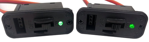 Apex RC Products JR Style HD On/Off Switch W/ LED + Charge Port - 2 Pack #1061