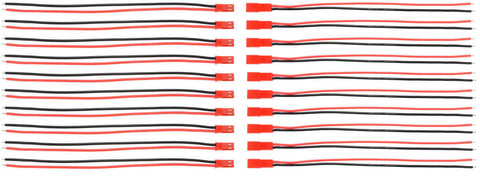 Apex RC Products Male / Female JST Connectors W/ 150mm Leads - 10 Pack #1070
