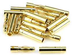 Apex RC Products 4.0mm Male / Female Gold Bullet Connectors Plugs - 10 Pair #1103