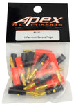 Apex RC Products 4.0mm Red & Black Banana Plug Connectors - 10 Pair #1110