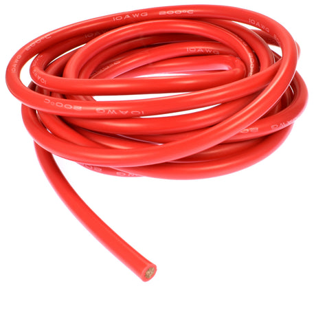 Apex RC Products 3m / 10' Red 10 Gauge AWG Super Flexible Silicone Wire #1130