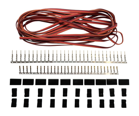 Apex RC Products JR Style Servo Extension Kit W/ 10 Plugs & 15' Wire #1226
