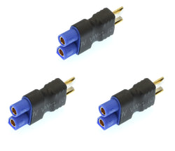 Apex RC Products No Wire Male Ultra T Plug (Deans Style) -> Female EC3 Adapter - 3 Pack #1251