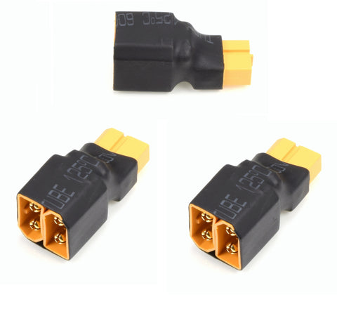 Apex RC Products No Wire XT60 Series Adapter Connector Plug - 3 Pack #1277