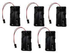 Apex RC Products 4 Cell AA Battery Holder W/ JR Style Connector Receiver Battery Pack - 5 Pack #2931
