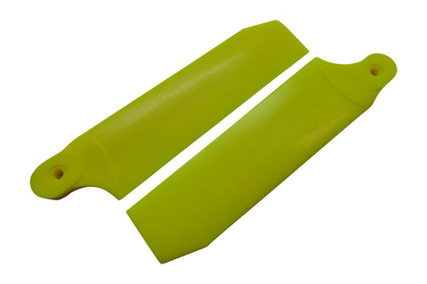 KBDD Neon Yellow 104mm Extreme Tail Rotor Blades #4080