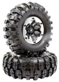 "Apex RC Products 1.9"" Beadlock ""K2"" Wheels + 108mm ""Muncher"" Crawler Tires #6155"