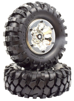 "Apex RC Products 1.9"" Beadlock ""K2"" Wheels + 108mm ""Muncher"" Crawler Tires #6156"