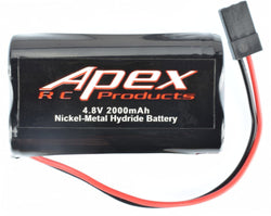 Apex RC Products 4.8v 2000Mah NiMh Square Receiver Battery #7301