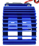 Apex RC Products 540 / 550 Blue Aluminum Heat Sink W/ 30mm Fan #8041-BL