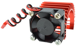 Apex RC Products 540 / 550 Red Aluminum Heat Sink W/ 30mm Fan #8041-RD