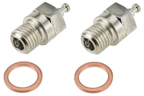 Apex RC Products Heavy Duty Hot (OS #6 / A3 / Enya #3 Equivalent) Nitro Glow Plug - Made In The USA - 2 Pack #9701