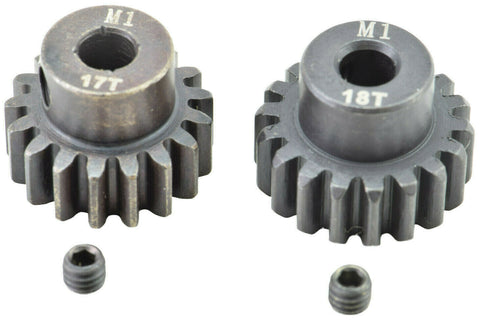 Apex RC Products 17 & 18T Mod 1 M1 5mm 1/8 Scale Pinion Gear Set #9733
