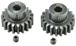 Apex RC Products 19 & 20T Mod 1 M1 5mm 1/8 Scale Pinion Gear Set #9734