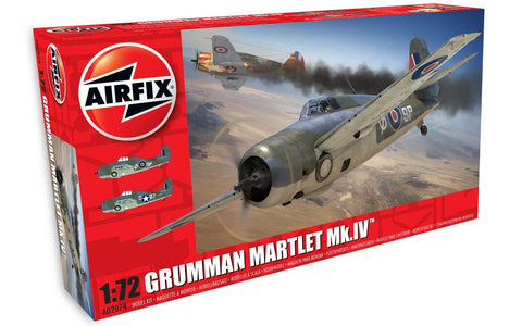 Airfix Grumman Martlet Mk.IV 1:72 Scale Plastic Model Plane Kit A02074